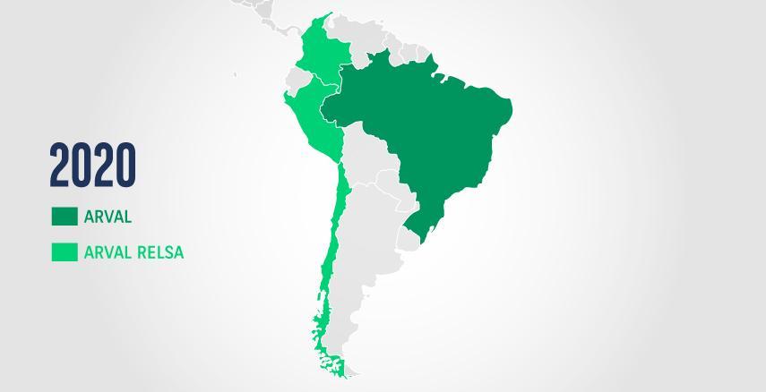 Sudamerica map