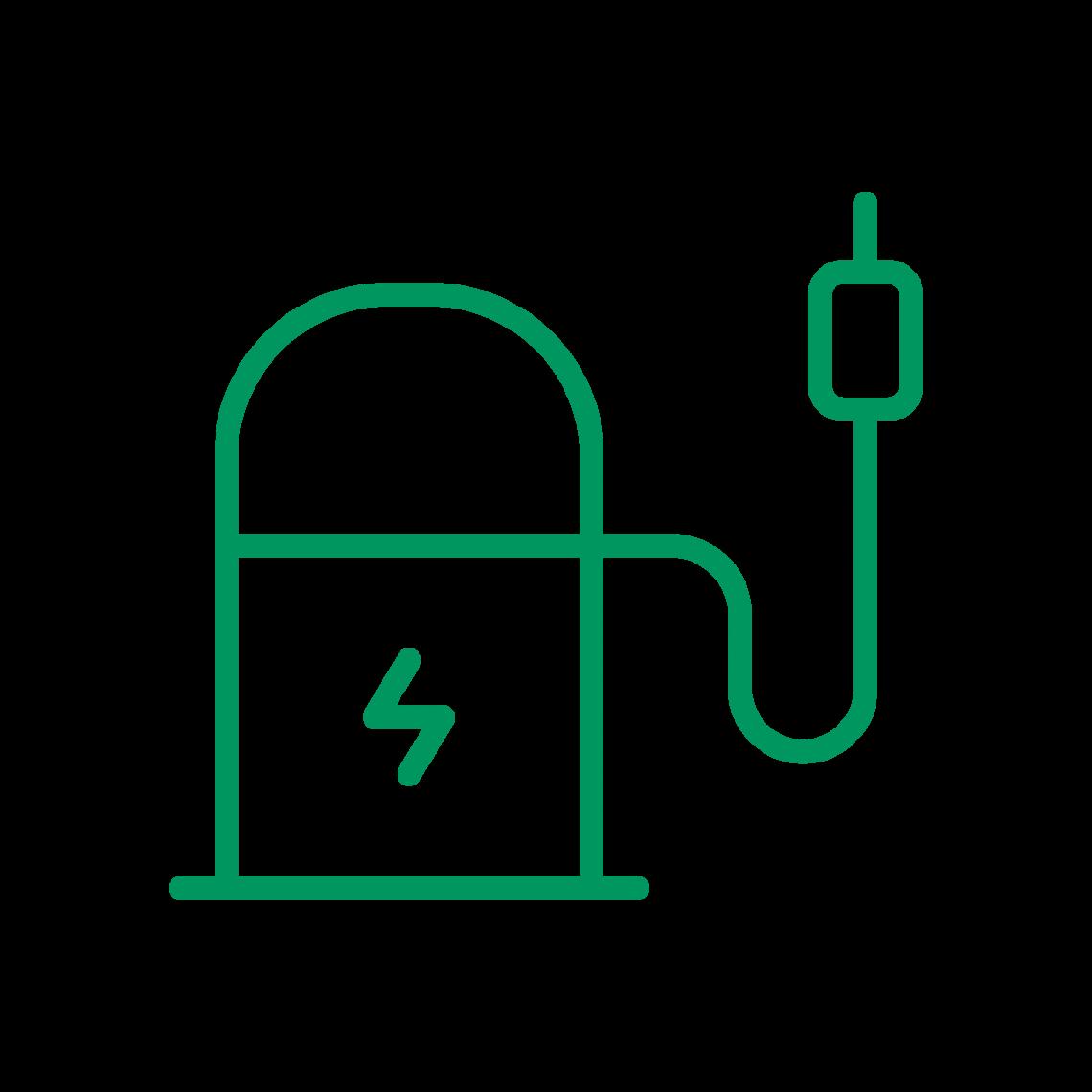 Illustration d'une borne de recharge de véhicule électrique