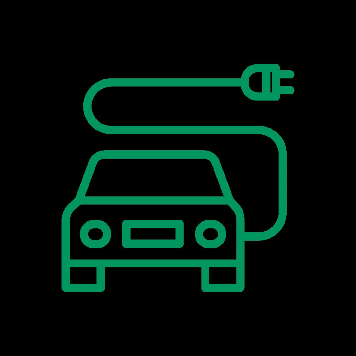 Illustration d'une voiture électrique